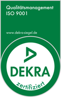 Qualitätsmanagement ISO 9001 - DEKRA-Siegel